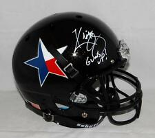 Kliff Kingsbury Signed Texas Tech F/S Texas Pride Helmet W/ Guns Up- JSA W Auth