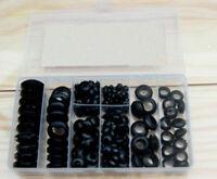NEW 200 pcs Rubber Grommet Assortment Set Harness Grommet Electrical Wire Gasket