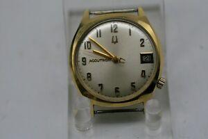 Vintage 1971 Bulova Accutron 14k GF Men's Cal. 2181  Watch FOR REPAIR