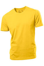 Hanes Plain YELLOW Organic Cotton Tee T-Shirt Tshirt S - XXXL