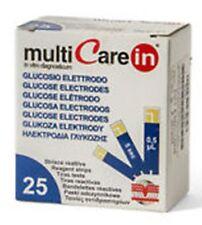 MULTICARE IN GLUCOSIO 25 STRISCE REATTIVE PER LA DETERMINAZIONE DELLA GLICEMIA