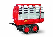 Rolly Hay Wagon Trailer, Red/Silver for ROLLY and KETTLER Tractor BRAND NEW NIB
