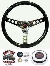 """1960-1969 Chevy pickup steering wheel BOWTIE GLOSSY GRIP 13 1/2"""" steering wheel"""