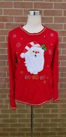 VTG Womens Red Santa Ugly Christmas Sweater Size S