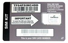 Straight Talk At&T Compatible Sim card for At&T phone or Unlocked Gsm Phone