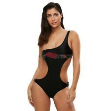 Bikini une piece maillot de bain noir monokini epaule coupe sexy ESS TECH® taill
