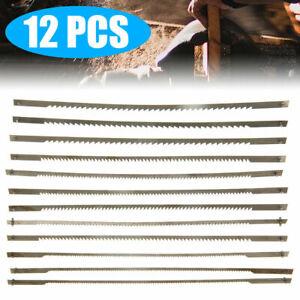 12Pcs/Set 127mm Pinned Black Scroll Saw Blades Woodworking Powered Tools UK
