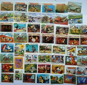 50 Different Walt Disney Stamp Collection