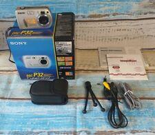 Sony CyberShot DSC-P32 Viewfinder 3.2MP Digital Camera, Pre-owned Working.