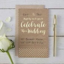 Faire-parts et invitations dorés pour le mariage