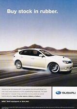 2009 Subaru Impreza WRX Original Advertisement Print Car Ad J546