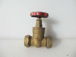 Old Brass Stop Cock Tap Stopcock Industrial Handle Factory Vintage / Retro 1952