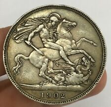 Edward VII 1902 Silver One Crown Coin