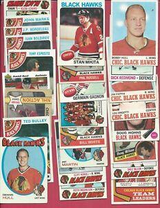(25) 1970's Chicago Black Hawks - Hockey - Lot - Hull - Mikita - Esposito