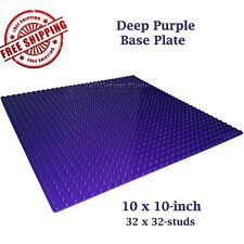 For LEGO, 1 Purple 10x10-inch 32x32-stud Brick Building Base Plate