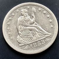 1853 O Seated Liberty Quarter Dollar 25c High Grade UNCIRCULATED  #11806