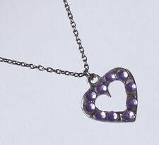 Markenlose Modeschmuck-Halsketten & -Anhänger aus Strass mit Herz-Schliffform