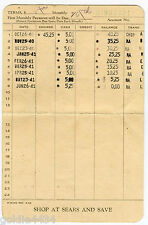 1940 41 Sears Roebuck and Co. Credit ACCOUNT PAYMENT Book LONG BEACH California