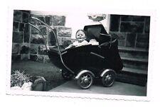 ANCIENNE PHOTO ENFANT POUSSETTE