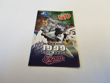 Montreal Expos 1999 MLB Baseball Pocket Schedule - Labatt 50