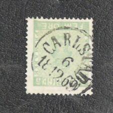 TIMBRES DE SUEDE : 1858/70 YVERT N° 6 Oblitéré - 5 ÖRE VERT-JAUNE - TBE
