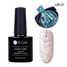 180 COLORS 7.5ml Soak Off LED UV Gel Nail Polish Sequins Glitter Gel Varnish