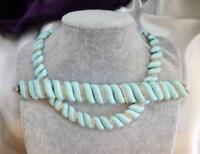 Crown TRIFARI Turquoise Lucite & Rhinestone Demi-Parure Set-Necklace & Bracelet