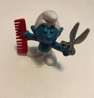 Smurf BARBER HAIR DRESSER Comb Scissors Vintage 1979  Schleich Peyo