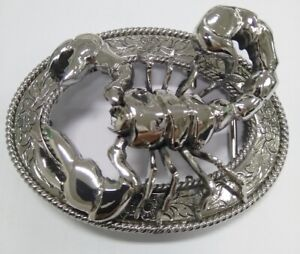 Men Thai  Buckle  Belt  the Scorpion  ,Stainless Steel,Unique  By Thai Hand Made