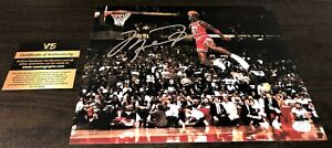 Michael Jordan Dunking Signed 8x10 Certified Photo Autograph Chicago Bulls