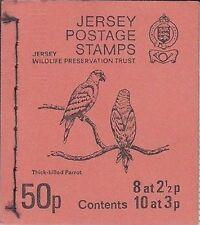 Jersey postage stamp booklet/sachet 1974 SB17 wildlife preservation trust