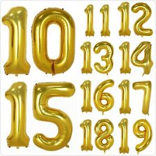 40 Inch Gold Foil Balloons Numbers 10-30 for Birthday Anniversary Party.Glowyms