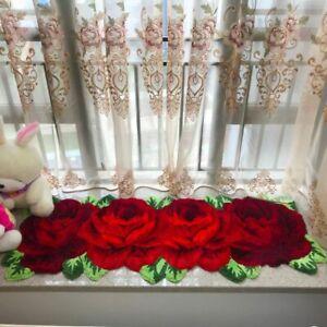 Art Rug Flocking Mat rose Carpet for home decoration pink red blue purple pink