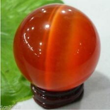 100MM + STAND Sell ASIAN QUARTZ RED CAT EYE CRYSTAL BALL SPHERE