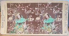 Stereoview OUR PRETTY FRUIT SELLER Woman Color Genre & Comic Views TW Ingersoll