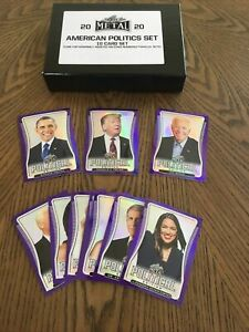 2020 Leaf Metal American Politics Box Set (10 card set) Rare Prizm /20 Set