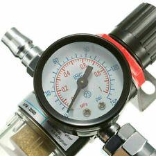 "1/4"" BSP Air Filter Regulator Moisture Trap Compressor Gauge Oil Water Separator"