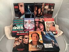 Lot 11 Vhs Tape Bruce Willis Movies- Sunset, Bandits, Unbreakable, & More
