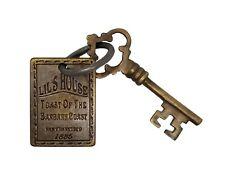 Lil's House 1885 Barbary Coast San Francisco Brothel Room Solid Brass Tag & Key