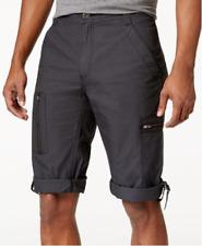 "I.N.C. Men's 17"" Convertible Messenger Shorts,Dark Charcoal,40W"