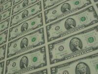 10 bills of 2 US dollars - Brand new bills, lucky bill! Brand new bill