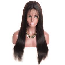 26 inch Mode Femmes Cheveux Longs Raides Perruque Intégrale Naturel Lisse Noir