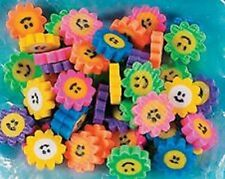 48 Flower Daisy Smile Face Erasers Smiley