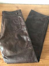 Lederhose/Jeans  Sluis-Leder braun W32