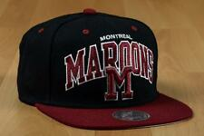 Casquette Mitchell & Ness Montreal Maroons Snapback Cap Canada Quebec Bride NEUF
