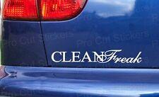 200mm (20cm) CLEAN FREAK Funny Novelty Car Bumper Sticker Decal OCD JDM VW DUB