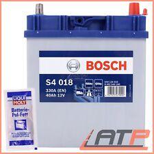 BOSCH S4 018 40Ah 330A 12V AUTOBATTERIE STARTERBATTERIE BATTERIE+10g POL-FETT