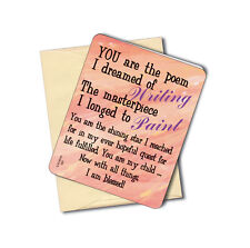 """""""You Are The Poem"""" - Inspirational Greeting Card - Blank Inside - Sku# 592"""