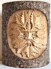 Natrual Wood Carving: Forest Man In Tree Trunk H15cm