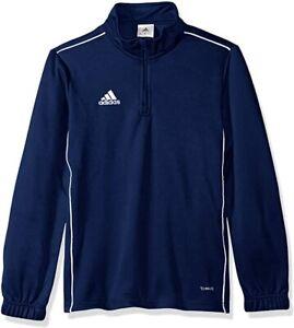 adidas Unisex Youth Soccer Core18 Training Top, Dark Blue/White, X-Large